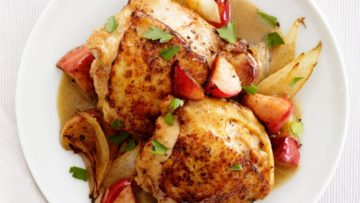 Honey-Mustard Chicken and Apples