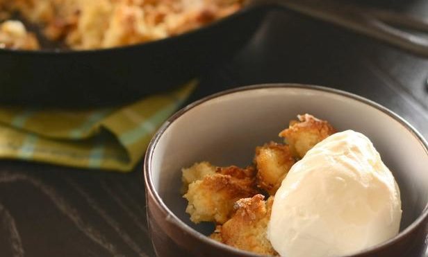 Cast Iron Peach Cobbler