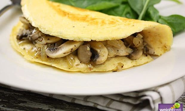 Mushroom Omelet Breakfast Recipe