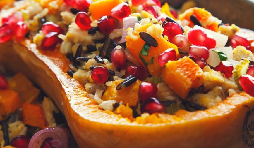 Stuffed Butternut Squash with Tempeh