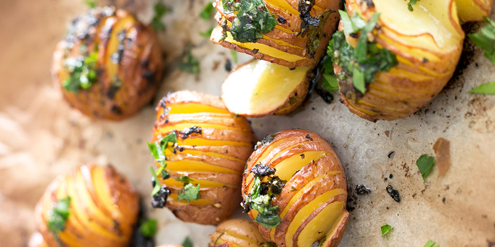 Vegan Lemon Garlic Herb Roasted Potatoes