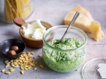 Kale and pecorino pesto